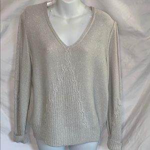 St John Sport gray sparkly sweater